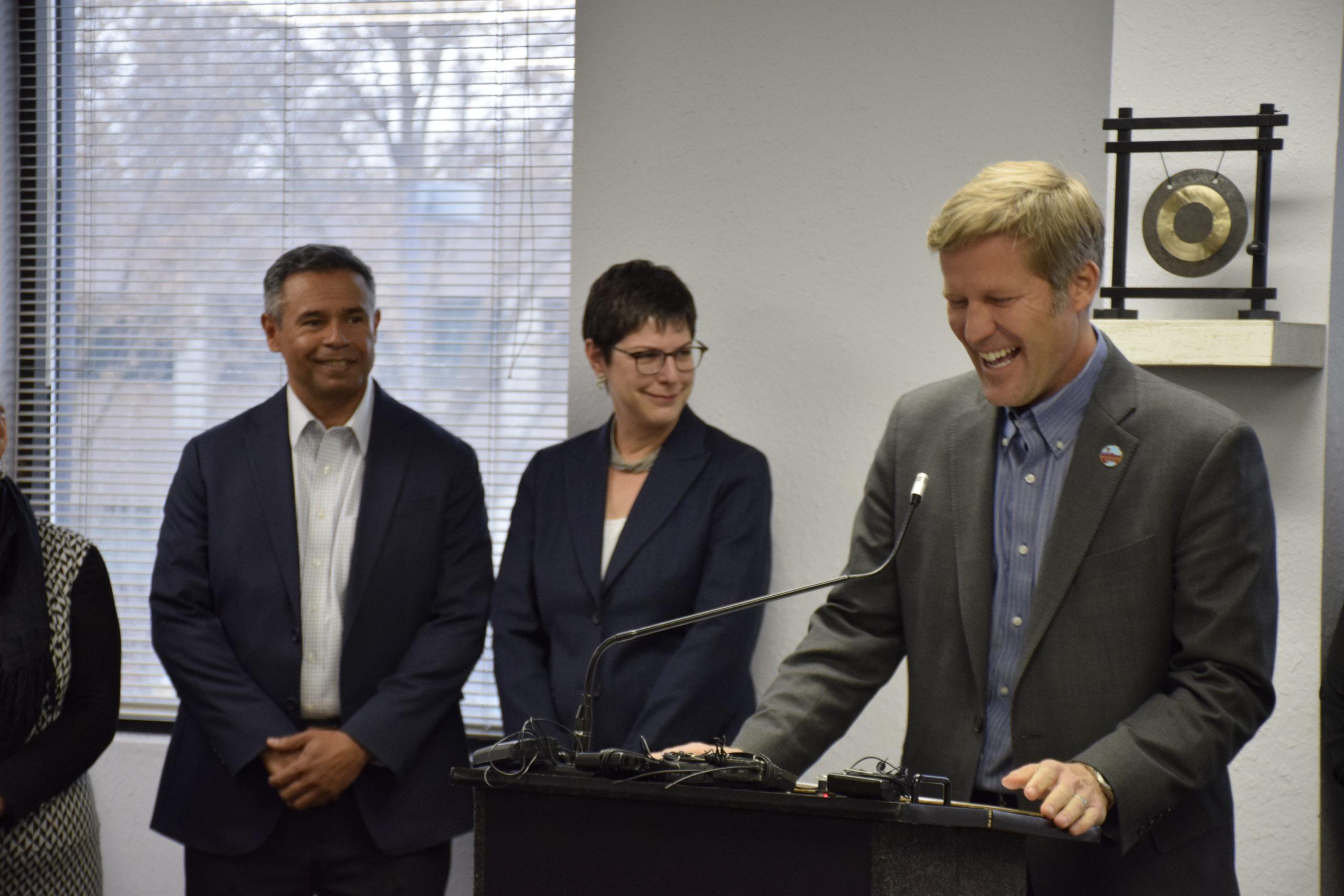 Mayor Tim Keller, Tracy L. Hartzler, Nick Truyol
