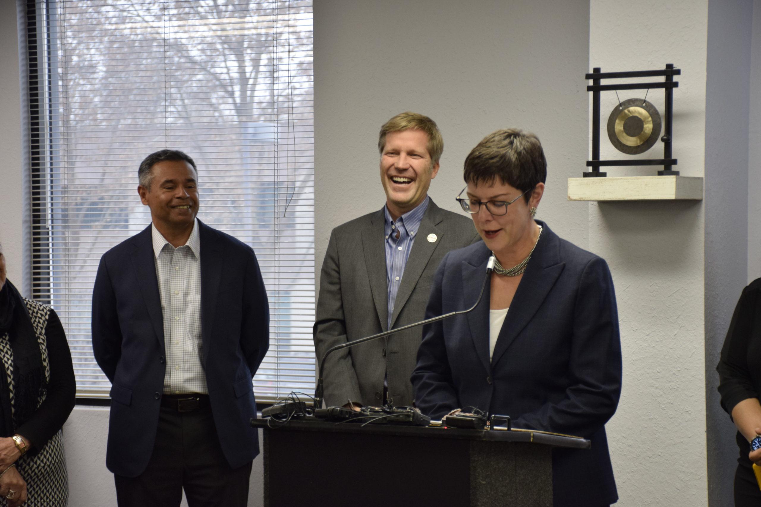 Tracy L. Hartzler, Mayor Tim Keller, Nick Truyol