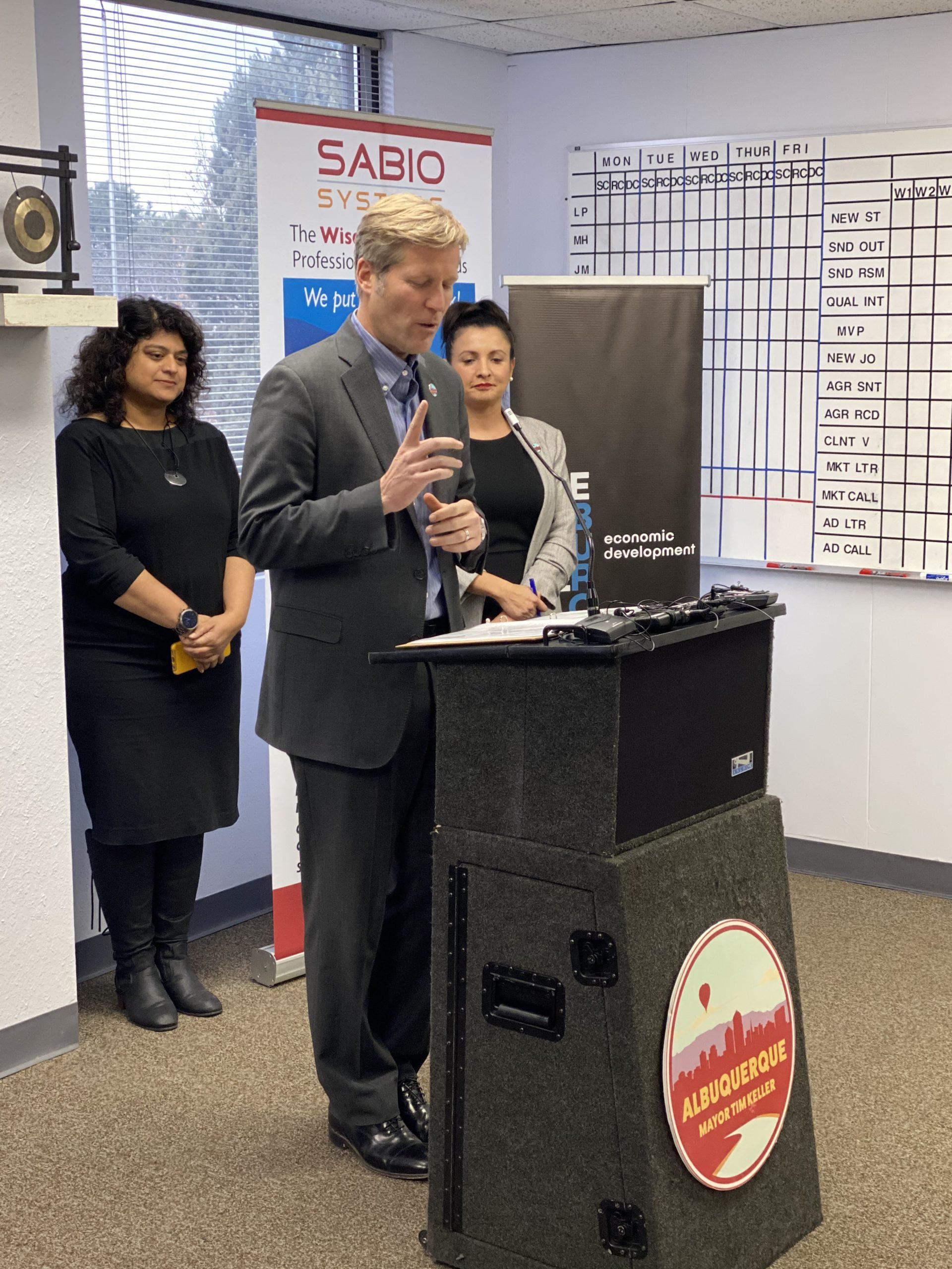 Mayor Tim Keller Speaking